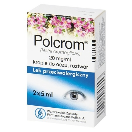 Polcrom 2*5 ML KROPLE DO OCZU 2%